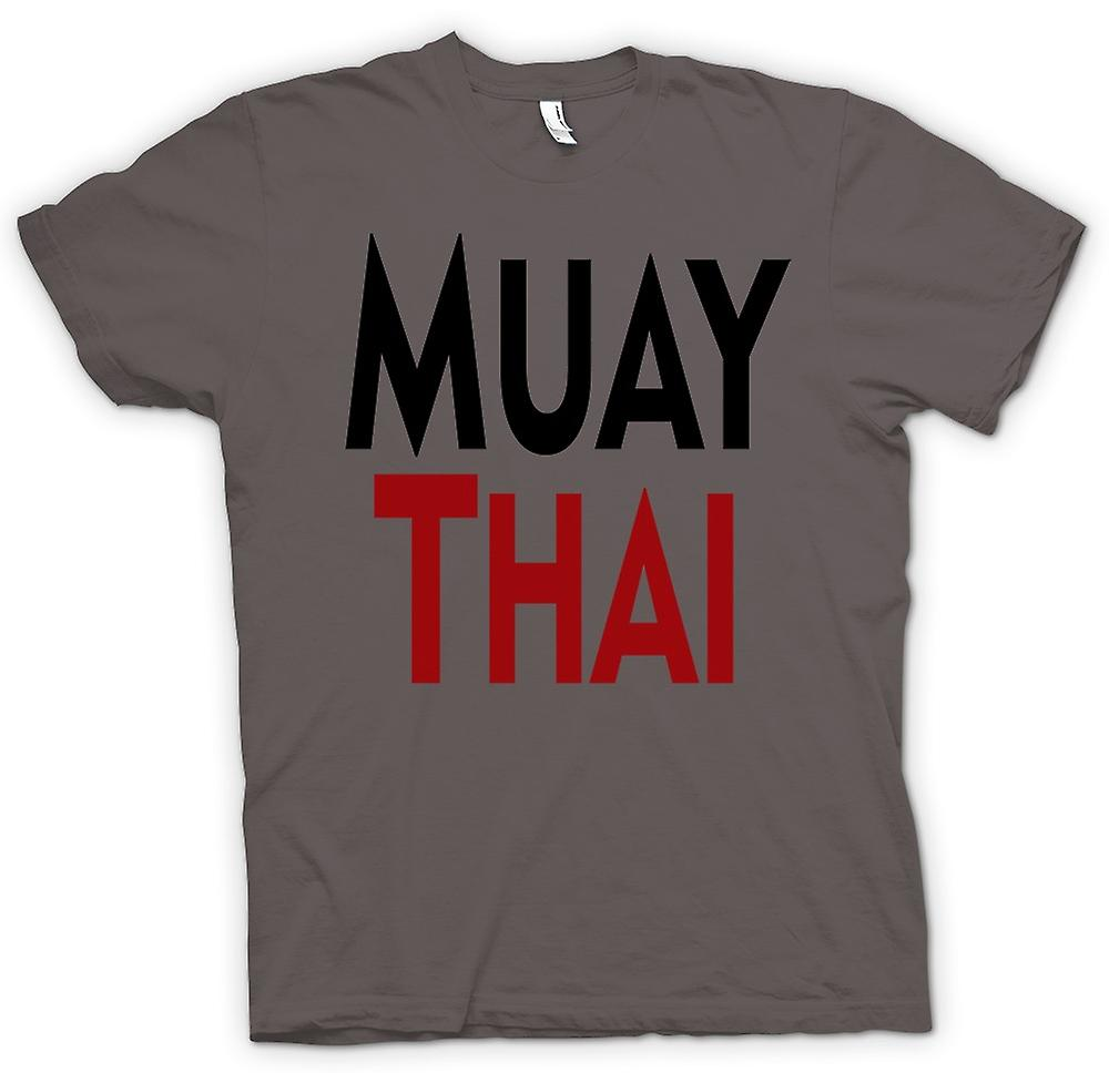 Mens T-shirt - Muay Thai - Kampfkunst - Slogan