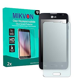 LG L65 Screen Protector - Mikvon Clear (Retail Package with accessories)