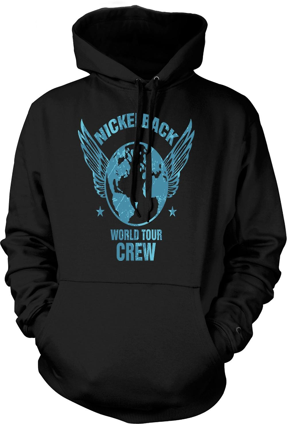 Mens Hoodie - Nickelback World Tour Crew
