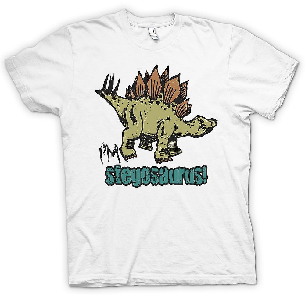 Mens T-shirt - Im Stegosaurus - Cool Dinosaurier