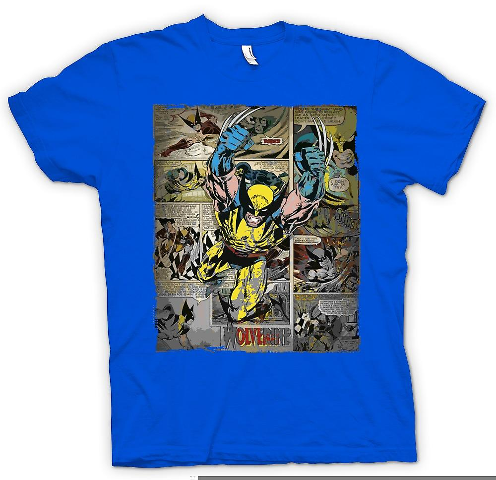 Mens T-shirt - Wolverine Comic Strip - Superhero