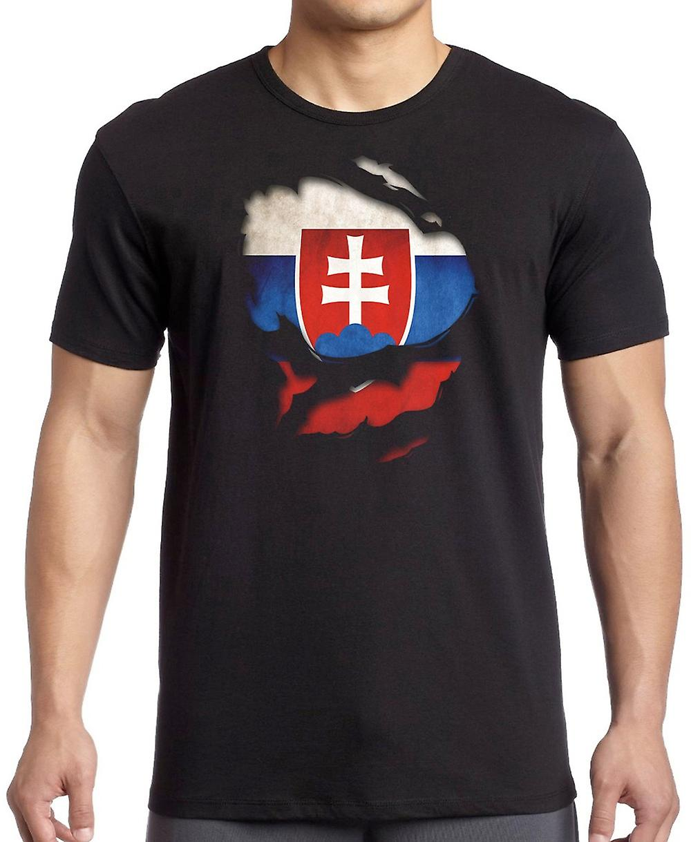 Slovakia Ripped Effect Under Shirt Kids T Shirt