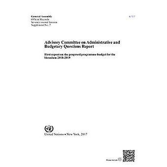 Comité consultatif pour les Questions administratives et budgétaires - premier R