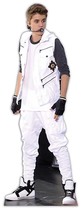 Justin Bieber - witte bovenkledij Levensgrote Kartonnen Uitsnede / Standee