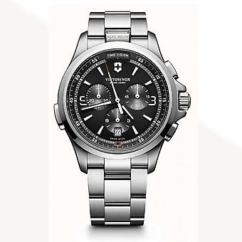 Victorinox Swiss Army 241780 Night Vision Stainless Steel Chronograph Watch