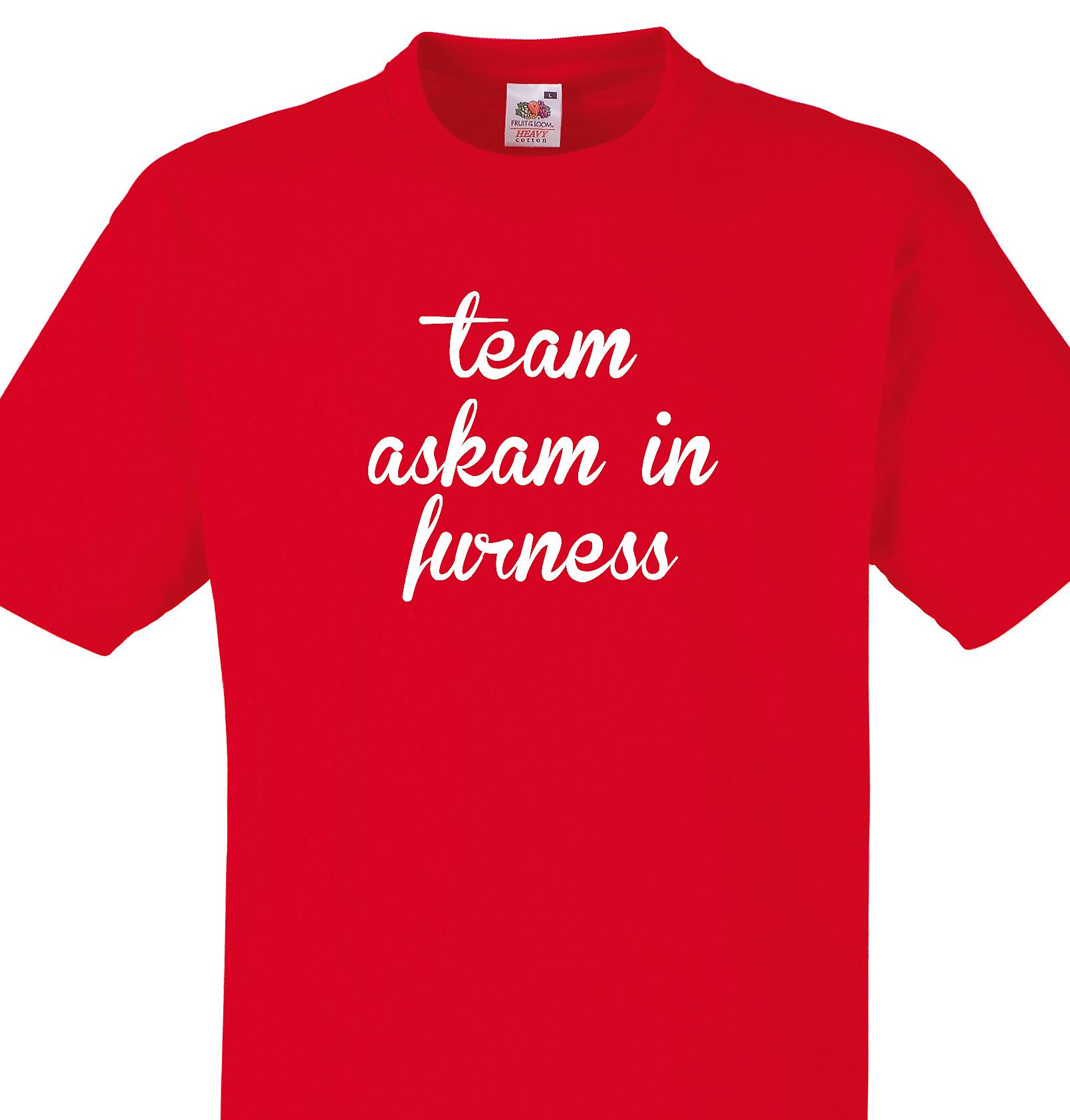 Team Askam in furness Red T shirt