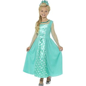Girls Ice Princess Fancy Dress Costume