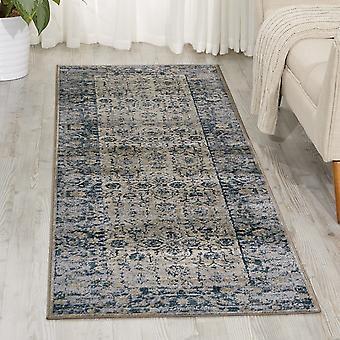 Malta MAI04 Ivory Blue  Rectangle Rugs Traditional Rugs