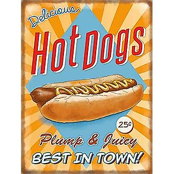 Hot Dogs large metal sign  400mm x 300mm   (og)