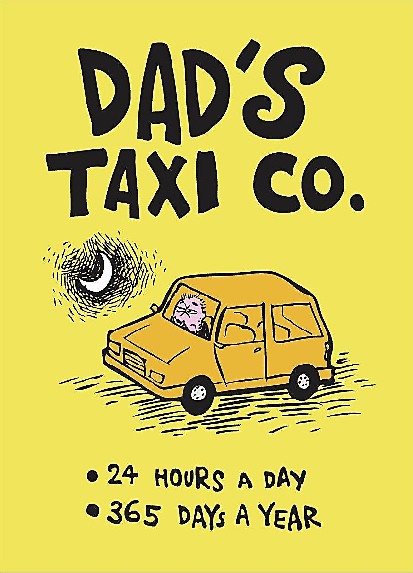 Dad's Taxi steel funny fridge magnet  (hb)