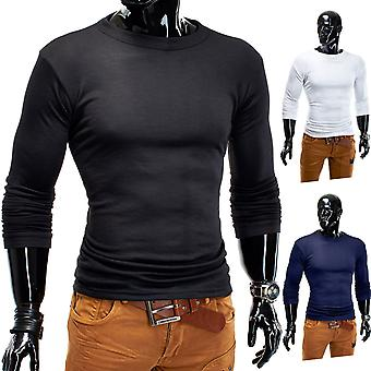 Men's Basic Long Sleeve Classic Shirt longsleeve sweatshirt hoodies O-Neck