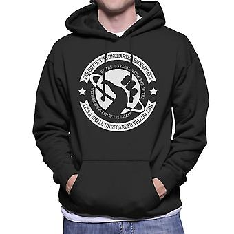 Must Read Opening Lines Hitchhikers Guide To The Galaxy Douglas Adams Men's Hooded Sweatshirt