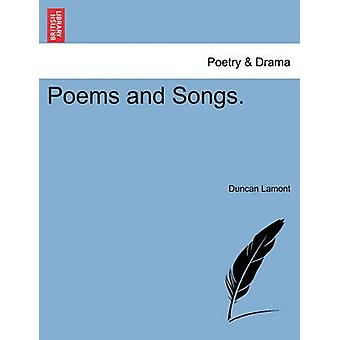 Poems and Songs. by Lamont & Duncan