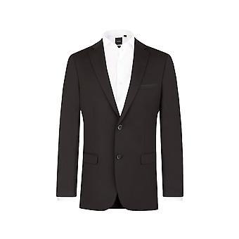・ ドベル メンズ黒スーツのジャケット合わせてフィット ノッチ襟