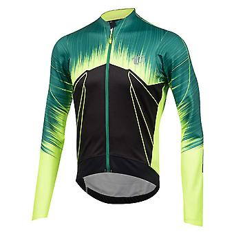Pearl Izumi Pepper Green Pro Pursuit Wind Thermal Long Sleeved Cycling Jersey