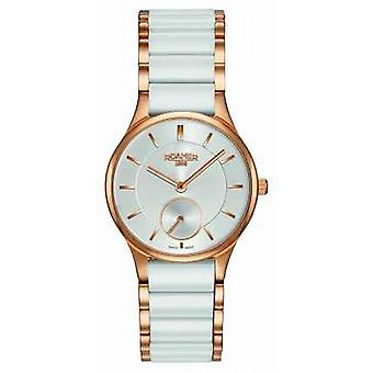Roamer Womens Ceraline Saphira, White Ceramic 677855491560 Watch