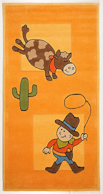 Rugs - Children\'s Gold Cowboy - 3288