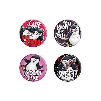 Psycho Penguin You Know The Drill Badge Pack