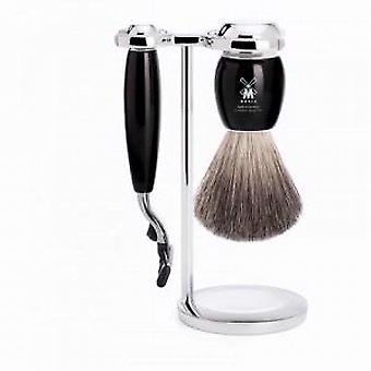 Muhle VIVO Black 3 Piece Mach3 Razor Shaving Set