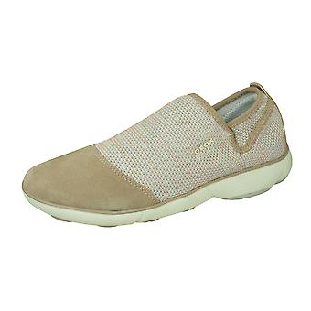 Geox D Nebula B Womens Slip On Trainers / Shoes - Antique Rose