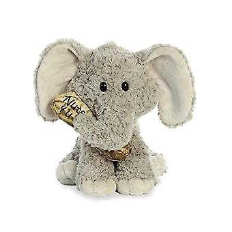 Aurora World Val Sayings Nuts for You Elephant Plush Animal,  11.5