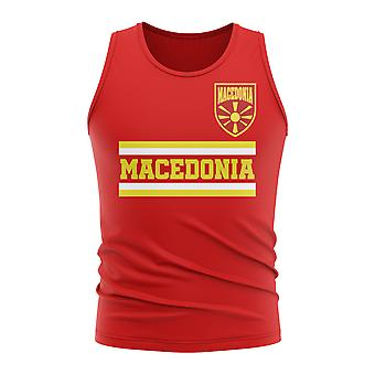 Macedonia Core Football Country Sleeveless Tee (Red)