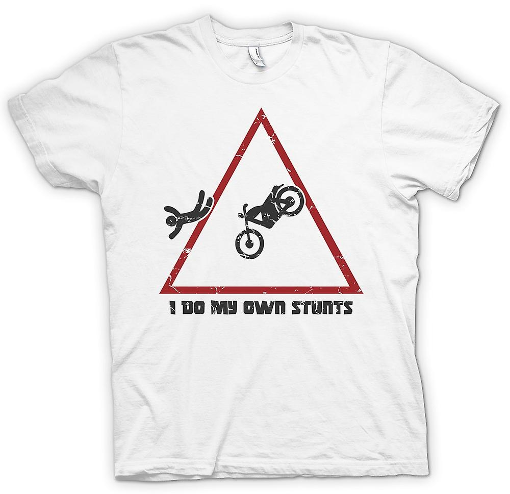 Mens T-shirt - Motocross - I Do My Own Stunts