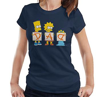 The Simpsons Dad Letters Women's T-Shirt
