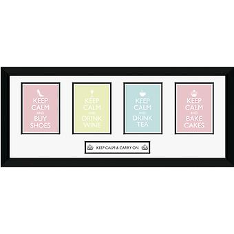 Keep Calm Girls Framed Collector Print 75x30cm