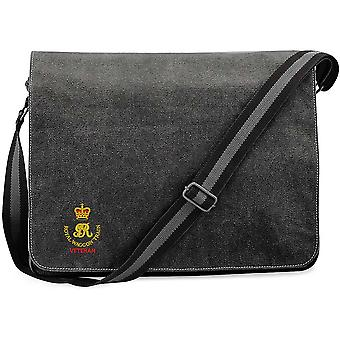Royal Waggon Train Veteran - Licensed British Army Embroidered Vintage Canvas Despatch Messenger Bag