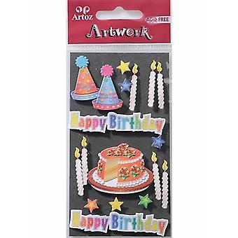 Birthday Cake & Candle Card Embellishments By Artoz