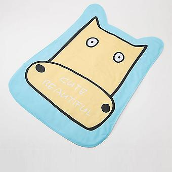 Cartoon pattern pet cow - bite resistant cooling sleeping mat