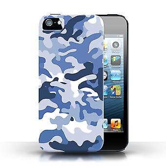 STUFF4 Phone Case / Cover for Apple iPhone 5/5S / Blue 1 Design / Camouflage Army Navy Collection