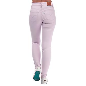 Womens Levi's 721 High Rise Skinny Jeans In Light Lilac