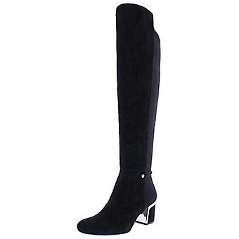 DKNY Womens Cora Suede Closed Toe Knee High Fashion Boots