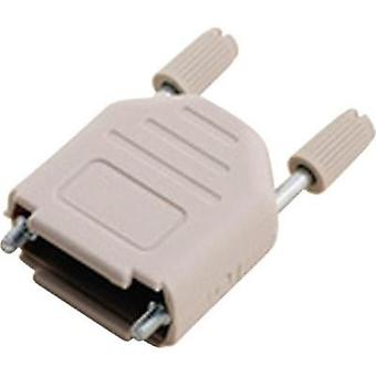 D-SUB housing Number of pins: 25 Plastic 180 ° Light grey MH Connectors MHDPPK25-LG-K 1 pc(s)