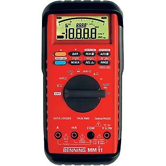 Handheld multimeter digital Benning MM 11 Calibrated to: Manufacturer standards Data logger CAT II 1000 V, CAT III 600 V