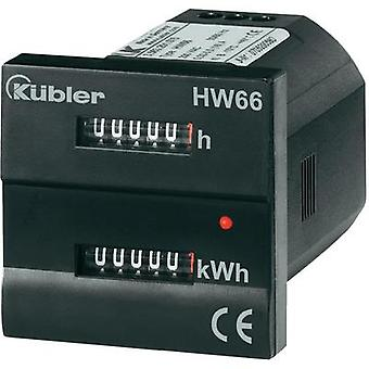 Electricity meter (AC) mechanical 16 A MID-approved: Yes Kübler HW66 M 230 VAC