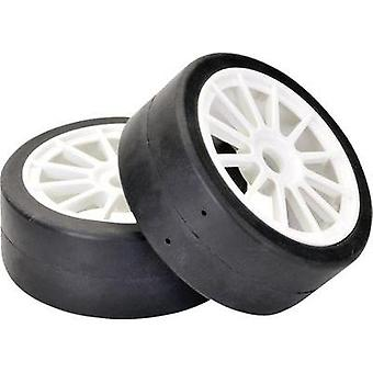 Team C 1:8 Buggy Wheels Slick 12-spoke White 2 pc(s)