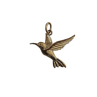 9ct Gold 24x22mm Hummingbird Pendant or Charm