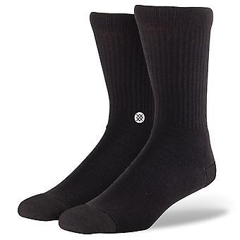 Haltung-Symbol-Socken - schwarz / weiß