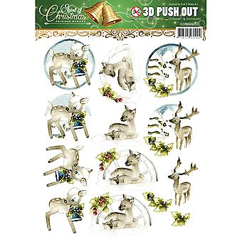 Find It Trading Precious Marieke Punchout Sheet-Spirit Of Christmas SB10119