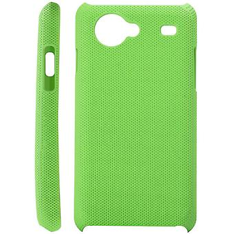 Dotted plastic cover for Samsung Galaxy S Advance i9070 (green)