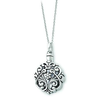 Verouderde Scroll cirkel Remembrance Collier - 11,3 gram - 18 Inch