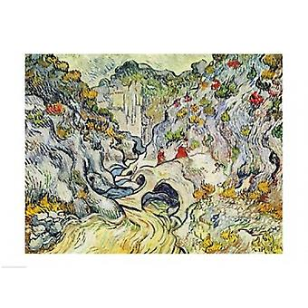 The Ravine of the Peyroulets Poster Print by Vincent Van Gogh (24 x 18)