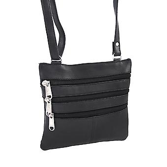 Genuine Leather Cross Body Bag with Adjustable Strap