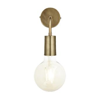 Vintage Sleek Edison Wall Light - Brass