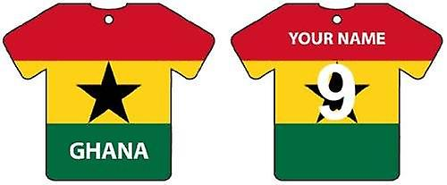 Personalised Ghana Flag Jersey Car Air Freshener