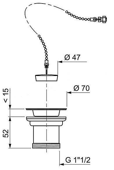 Kitchen Sink Stainless Steel Basket Strainer Waste 1 1/2