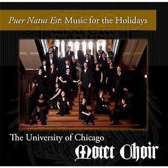 Universitetet i Chicago Motet kor - Busbimsen Natus Est: musik til helligdage [CD] USA importen